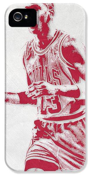 Michael Jordan Chicago Bulls Pixel Art 2 IPhone 5 Case by Joe Hamilton