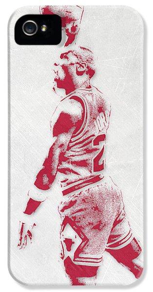 Michael Jordan Chicago Bulls Pixel Art 3 IPhone 5 Case by Joe Hamilton
