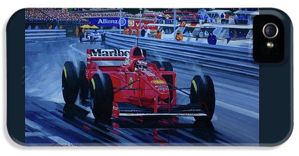 Michael Schumacher. Ferrari. Monaco Grand Prix 1997 IPhone 5 Case by Simon Ward