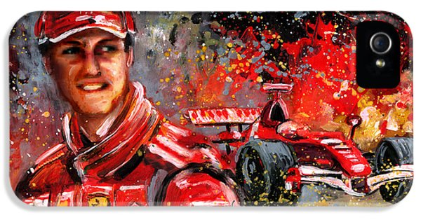 Michael Schumacher IPhone 5 Case by Miki De Goodaboom