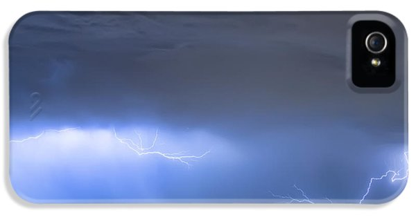 IPhone 5 Case featuring the photograph Michelangelo Lightning Strikes Oil by James BO Insogna