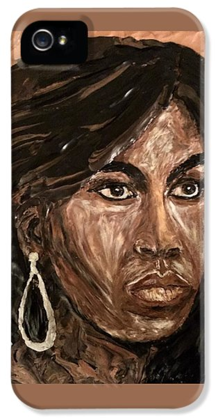 Michelle Obama A Class Act IPhone 5 Case by Deborah Stanley