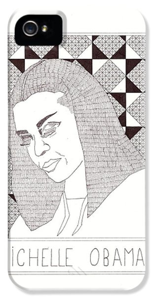 Michelle Obama IPhone 5 Case by Benjamin Godard