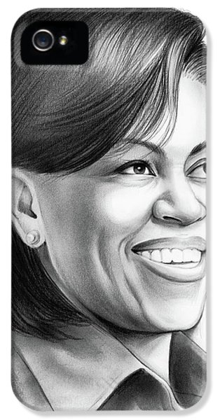 Michelle Obama IPhone 5 Case by Greg Joens