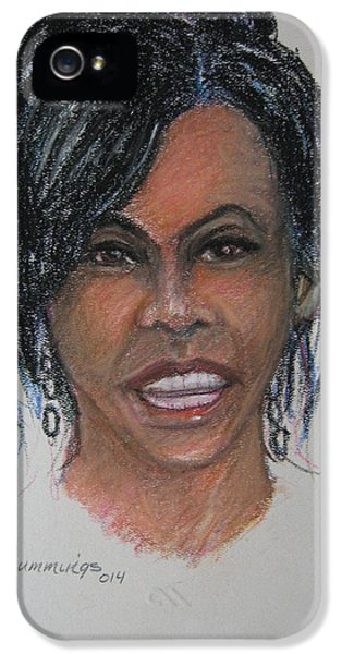 Michelle Obama IPhone 5 Case by John Cummings