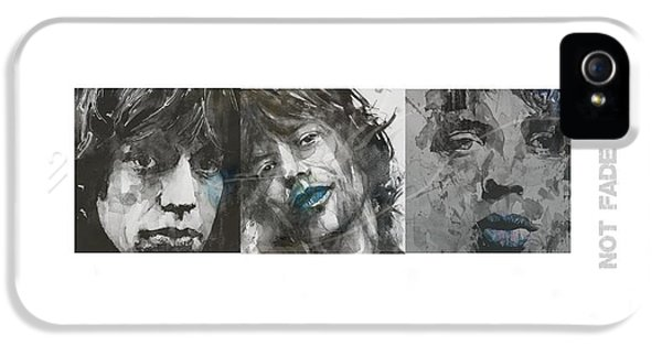 Rolling Stone Magazine iPhone 5 Case - Mick Jagger Triptych by Paul Lovering