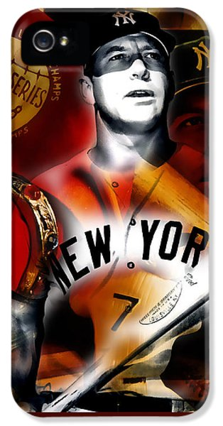 Mickey Mantle Collection IPhone 5 Case by Marvin Blaine