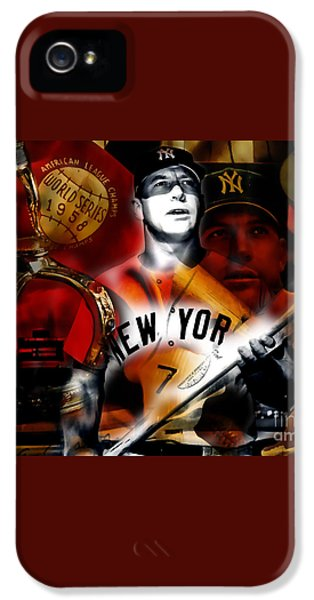 Mickey Mantle Collection IPhone 5 / 5s Case by Marvin Blaine