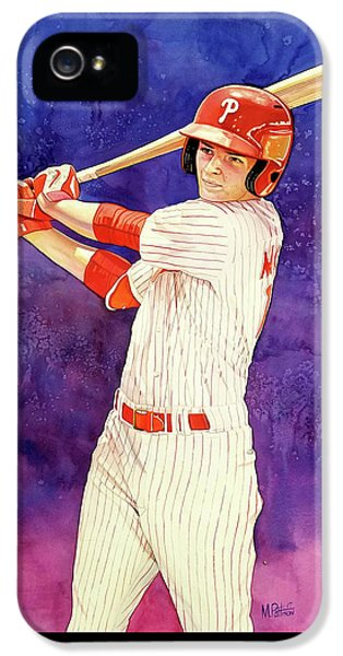 Mickey Moniak Number 1 Pick IPhone 5 Case by Michael Pattison