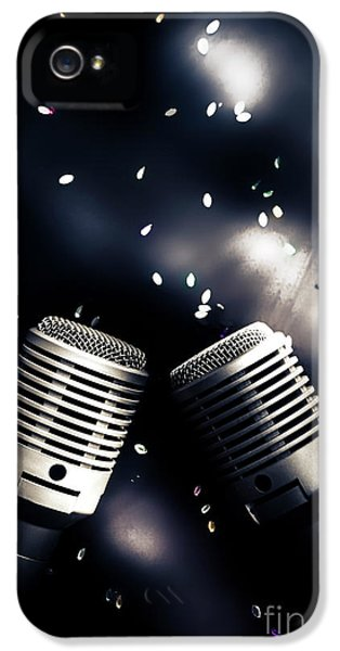 Microphone Club IPhone 5 Case by Jorgo Photography - Wall Art Gallery