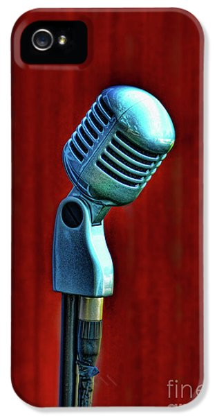 Microphone IPhone 5 Case by Jill Battaglia