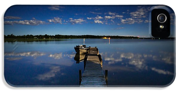 Midnight At Shady Shore On Moose Lake Minnesota IPhone 5 Case