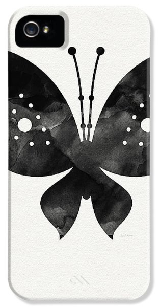 Midnight Butterfly 2- Art By Linda Woods IPhone 5 Case by Linda Woods