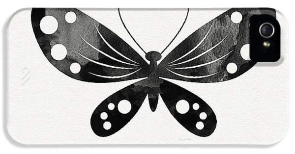 Midnight Butterfly 3- Art By Linda Woods IPhone 5 Case
