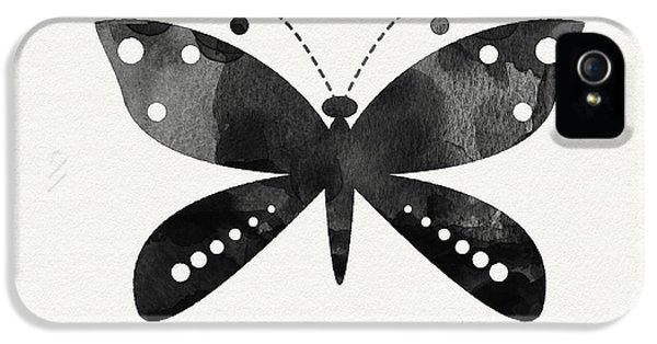 Midnight Butterfly 4- Art By Linda Woods IPhone 5 Case