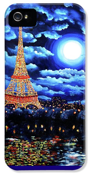 Midnight In Paris IPhone 5 Case by Laura Iverson