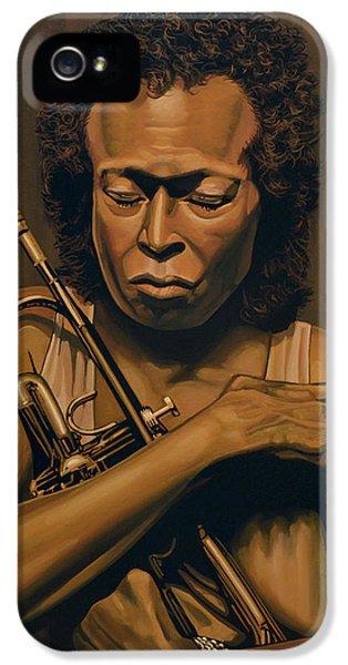 Trumpet iPhone 5 Case - Miles Davis Painting by Paul Meijering