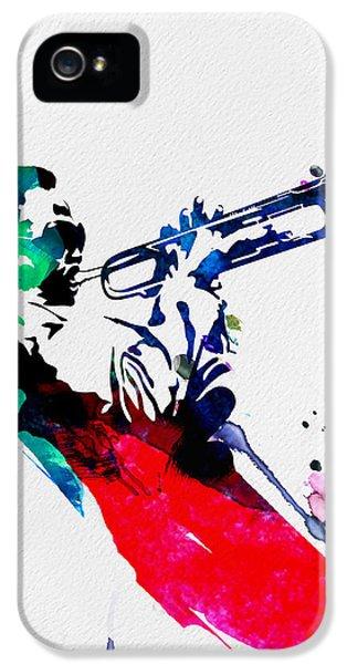 Jazz iPhone 5 Case - Miles Watercolor by Naxart Studio