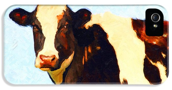 Livestock iPhone 5 Cases - Milk Cow . Photoart iPhone 5 Case by Wingsdomain Art and Photography