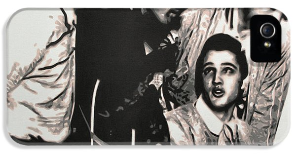 Million Dollar Quartet IPhone 5 Case by Luis Ludzska