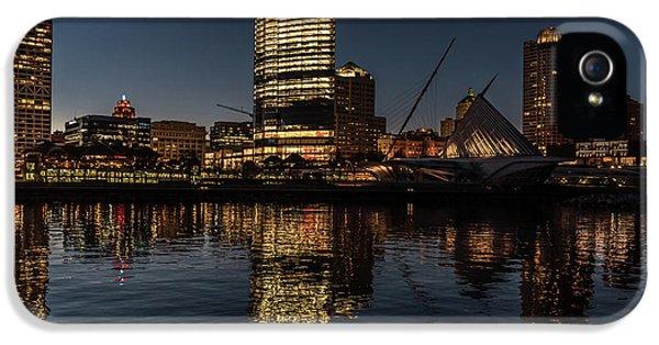 IPhone 5 Case featuring the photograph Milwaukee Reflections by Randy Scherkenbach