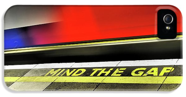 Mind The Gap IPhone 5 Case by Rona Black