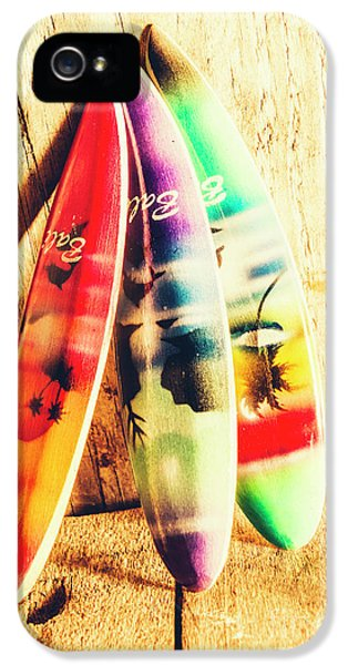 Miniature Surfboard Decorations IPhone 5 Case by Jorgo Photography - Wall Art Gallery