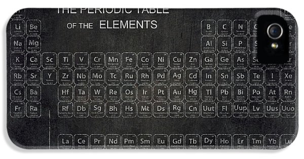 Minimalist Periodic Table IPhone 5 Case by Daniel Hagerman