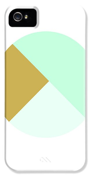 Mint And Gold Ball- By Linda Woods IPhone 5 Case