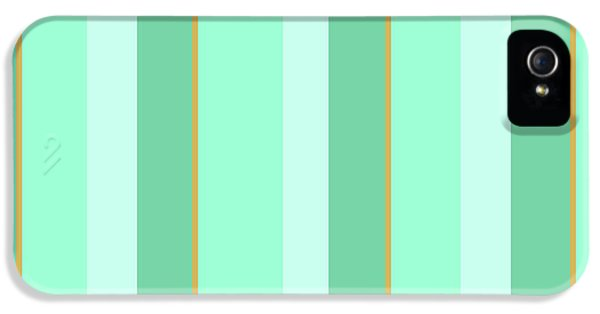 IPhone 5 Case featuring the mixed media Mint Green Stripe Pattern by Christina Rollo