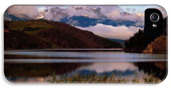 IPhone 5 Case featuring the photograph Misty Mountain Morning by Karen Shackles