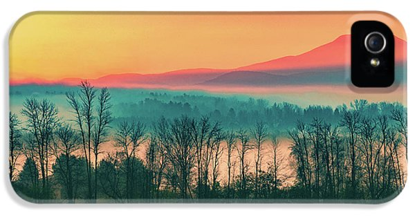 Misty Mountain Sunrise Part 2 IPhone 5 Case by Alan Brown
