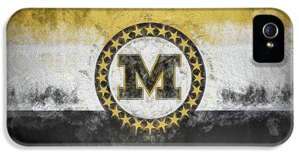IPhone 5 Case featuring the digital art Mizzou State Flag by JC Findley