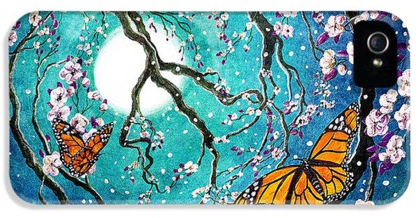 Monarch Butterflies In Teal Moonlight IPhone 5 Case