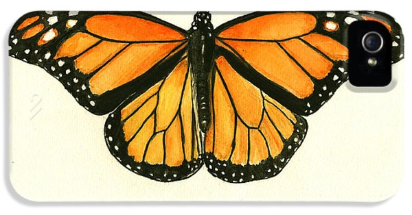 Insect iPhone 5 Case - Monarch Butterfly by Juan Bosco