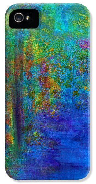 IPhone 5 Case featuring the painting Monet Woods by Claire Bull