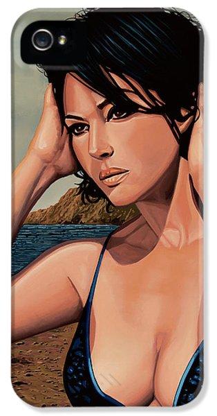 Monica Bellucci 2 IPhone 5 Case by Paul Meijering