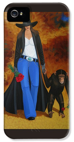 Monkeys Best Friend IPhone 5 Case by Lance Headlee