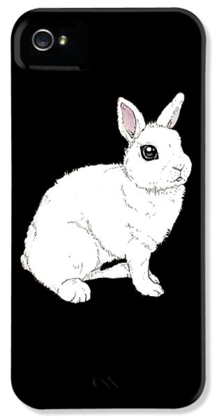 Monochrome Rabbit IPhone 5 Case by Katrina Davis