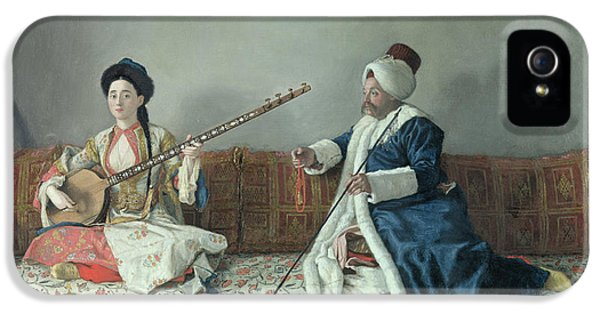 Monsieur Levett And Mademoiselle Helene Glavany In Turkish Costumes IPhone 5 Case by Jean Etienne Liotard