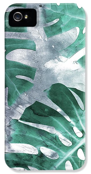 Monstera Theme 1 IPhone 5 Case by Emanuela Carratoni