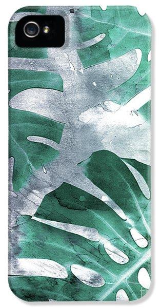 Monstera Theme 1 IPhone 5 Case by Emanuela Carratoni