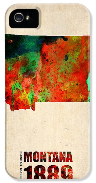 Montana Watercolor Map IPhone 5 Case by Naxart Studio