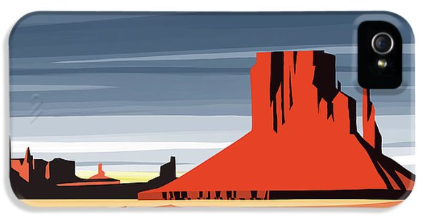 Magician iPhone 5 Case - Monument Valley Sunset Digital Realism by Sassan Filsoof