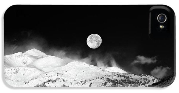 Moon Over The Alps IPhone 5 Case by Silvia Ganora