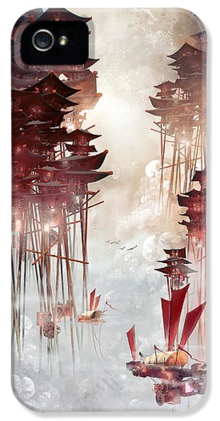 Moon Palace IPhone 5 Case by Te Hu