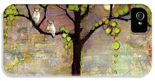 Moon River Tree Owls Art IPhone 5 / 5s Case by Blenda Studio