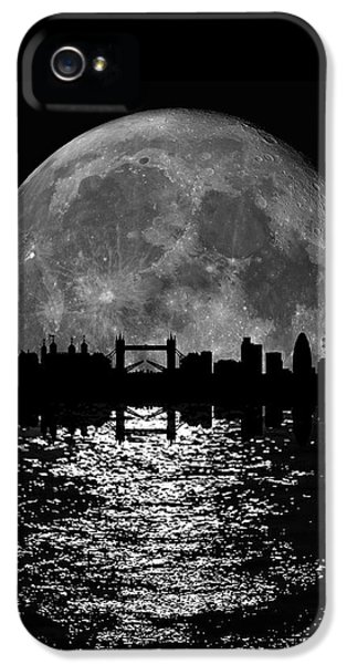 Moonlight London Skyline IPhone 5 Case by Mark Rogan