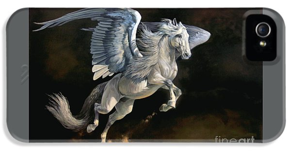 Pegasus iPhone 5 Case - Moonlight Magic by Jeanne Newton Schoborg