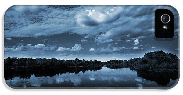 Moonlight Over A Lake IPhone 5 Case by Jaroslaw Grudzinski